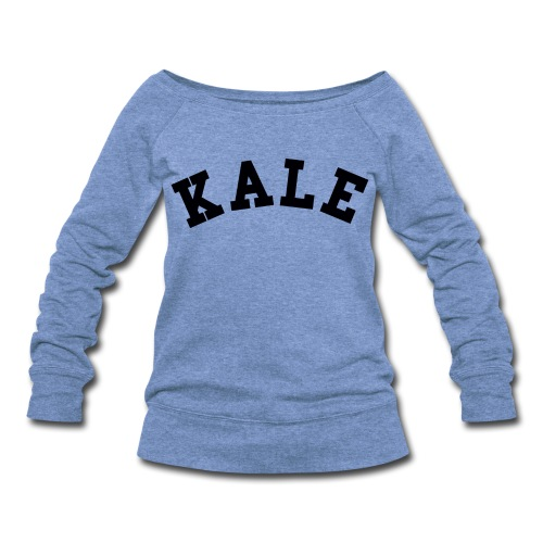KALE SLOUCHY SWEATSHIRT GRAY - Women's Wideneck Sweatshirt