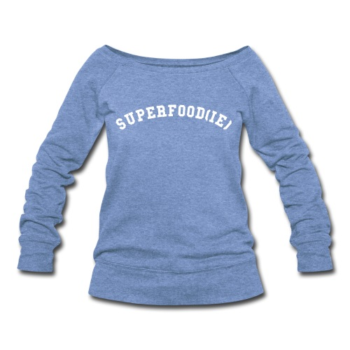 SUPERFOODIE SLOUCHY SWEATSHIRT GRAY - Women's Wideneck Sweatshirt