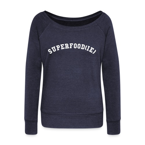 SUPERFOOD SLOUCHY SWEATSHIRT NAVY - Women's Wideneck Sweatshirt
