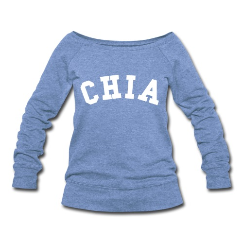 CHIA SLOUCHY SWEATSHIRT GRAY - Women's Wideneck Sweatshirt