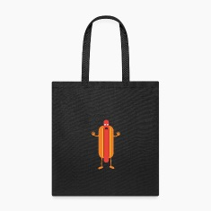 Hot Dog man Bags & backpacks