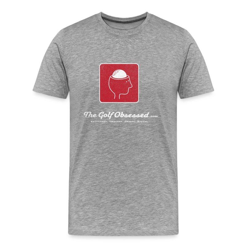 Lg Logo V3 distressed heather t-shirt - Men's Premium T-Shirt