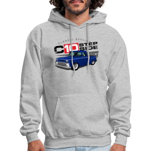 C10 Stepside Blue PREMIUM ART Hooded Sweatshirt - Men's Hoodie