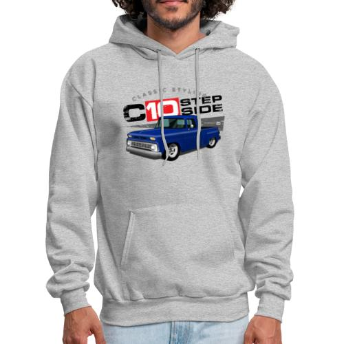 C10 Stepside Blue PREMIUM ART Hooded Sweatshirt - Men's Hoodie