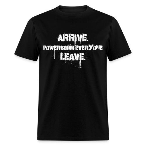 Arrive Powerbomb - Men's T-Shirt