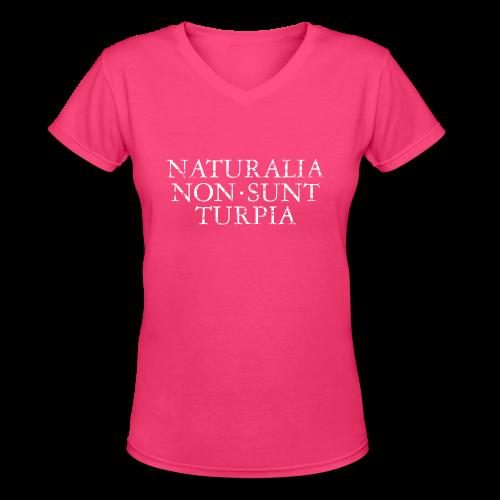 Naturalia Non Sunt Turpia (Vintage White) V-Neck - Women's V-Neck T-Shirt