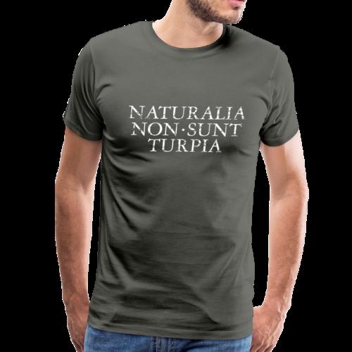 Naturalia Non Sunt Turpia (Vintage White) S-5X T-Shirt - Men's Premium T-Shirt