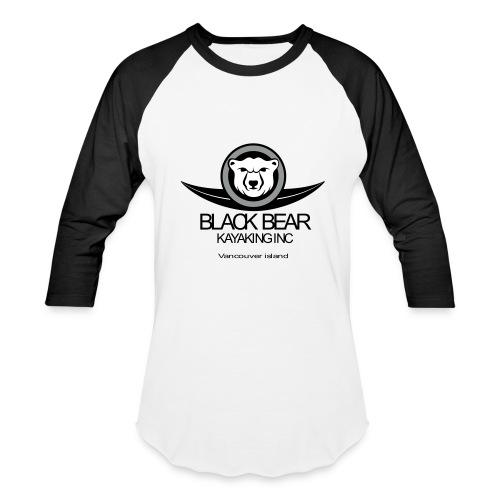Black Bear Kayak Baseball Shirt - Baseball T-Shirt