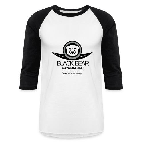 Black Bear Kayak Baseball Shirt - Baseball T-Shirt