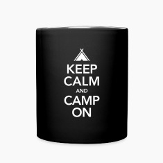 Keep Calm And Camp On Mugs & Drinkware