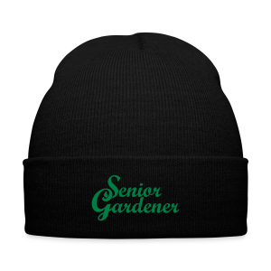 Senior Gardener Knit Cap - Knit Cap with Cuff Print