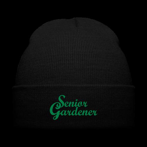 Senior Gardener Knit Cap - Knit Cap with Cuff Print