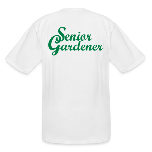 Senior Gardener Tall T-Shirt (Back) - Men's Tall T-Shirt