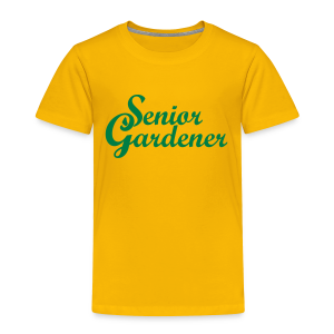 Senior Gardener Toddler T-Shirt - Toddler Premium T-Shirt
