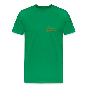 Senior Gardener T-Shirt (Gold) - Men's Premium T-Shirt