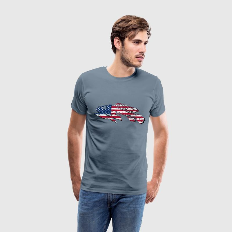 Fish - USA Flag T-Shirts - Men's Premium T-Shirt