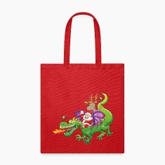 Santa Claus Changed his Reindeer for a Dragon Bags & backpacks