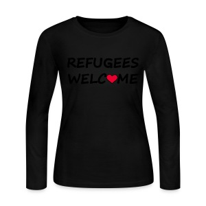 Refugees welcome - Women's Long Sleeve Jersey T-Shirt