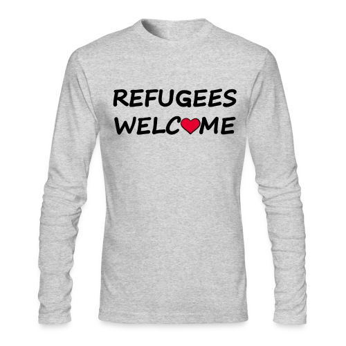 Refugees welcome - Men's Long Sleeve T-Shirt by Next Level