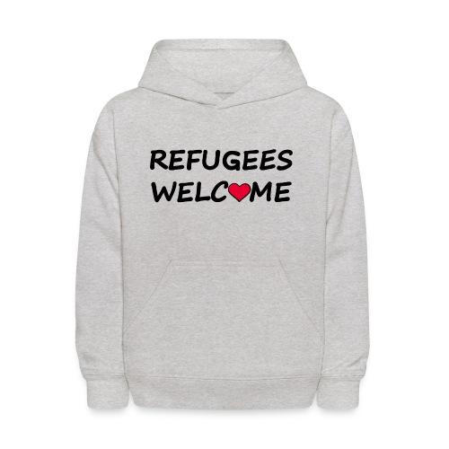 Refugees welcome - Kids' Hoodie