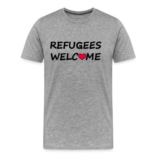 Refugees welcome - Men's Premium T-Shirt