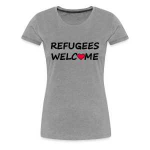 Refugees welcome - Women's Premium T-Shirt