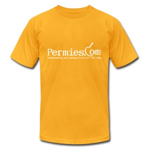 Permies Sickle Yellow Tee - Men's T-Shirt by American Apparel