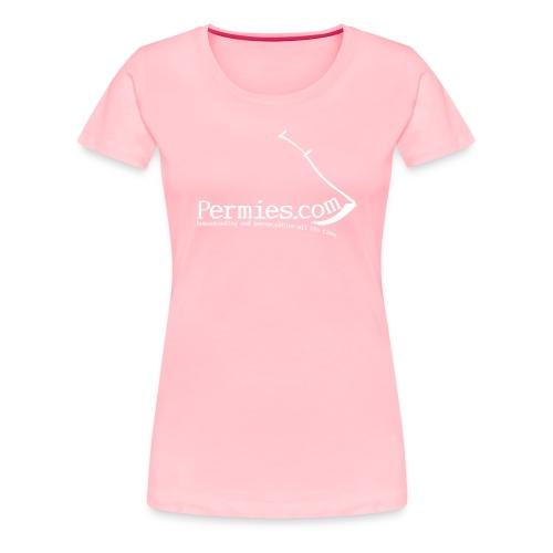 Permie Girl Scythe Tee Pink - Women's Premium T-Shirt