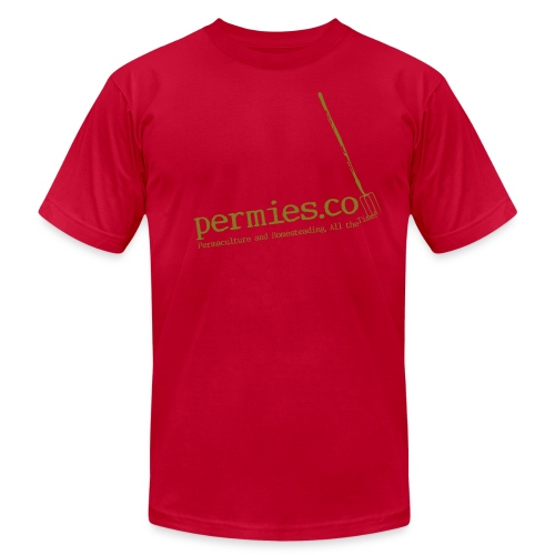Permies Pitchfork tee brown - Men's Fine Jersey T-Shirt