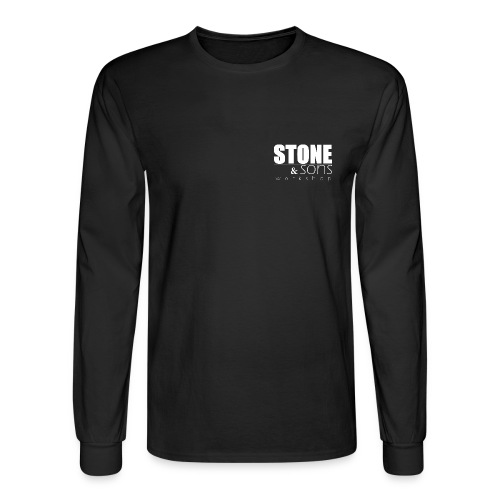 Stone & Sons Men's long sleeve T-shirt (white logo) - Men's Long Sleeve T-Shirt
