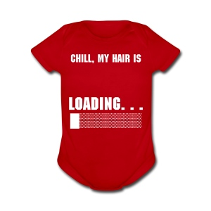 What the Frizz: Loading... - Short Sleeve Baby Bodysuit