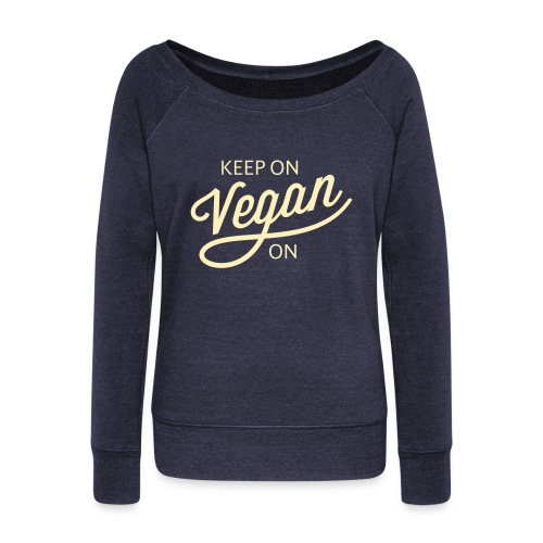 KOVO — Womens Wideneck Sweatshirt (Navy) - Women's Wideneck Sweatshirt