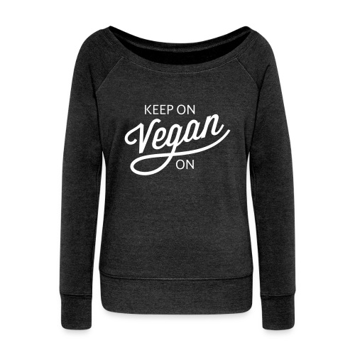 KOVO — Womens Wideneck Sweatshirt (Charcoal) - Women's Wideneck Sweatshirt