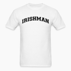irishman college style curved logo t-shirt
