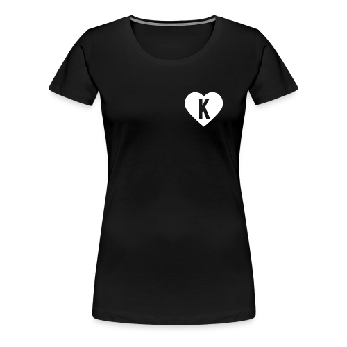 K Heart/LegitKawaii - Women's Tshirt (Black) - Women's Premium T-Shirt