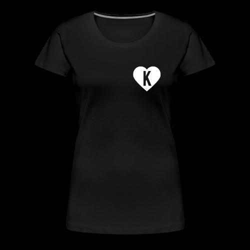 K Heart/LegitKawaii - Women's Tshirt (Black) - Women's Premium T-Shirt