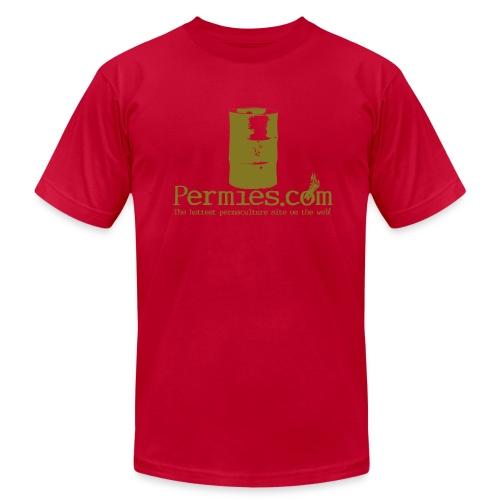 Permies Rocket Mass Heater Tee Brown - Men's Fine Jersey T-Shirt