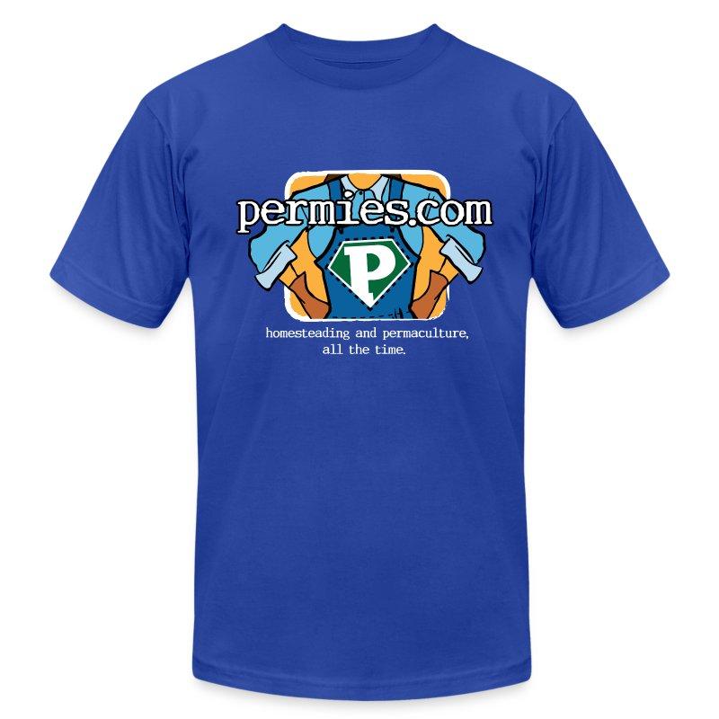 Permies logo New on dark tees - Men's Fine Jersey T-Shirt