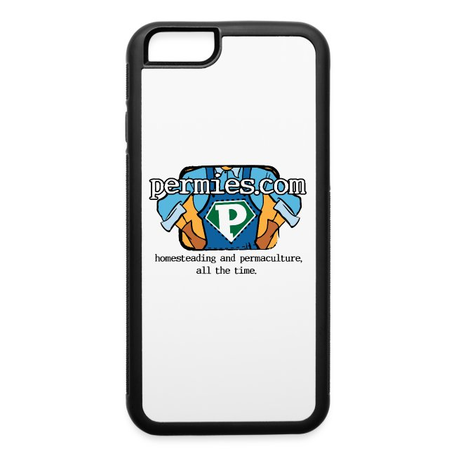 Permies New Logo iPhone 6 Rubber Case