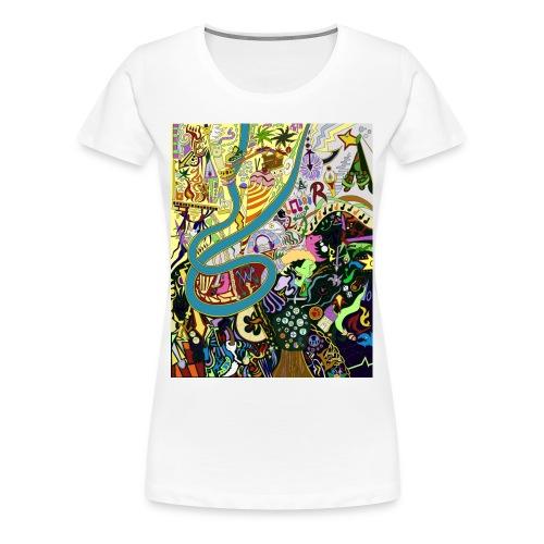 Female Graffiti tee - Women's Premium T-Shirt