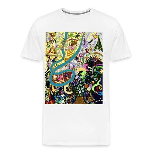 Male Graffiti tee - Men's Premium T-Shirt