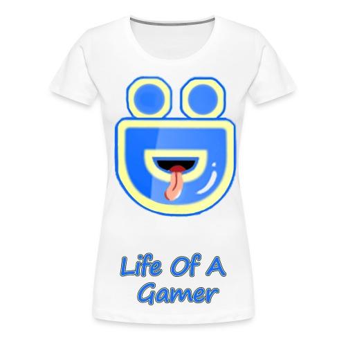Female Deebz Shirt Life Of A Gamer - Women's Premium T-Shirt