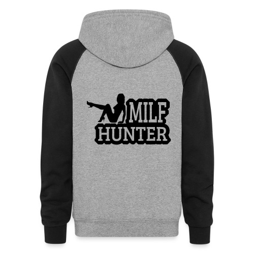 milf hunter sitting - Colorblock Hoodie