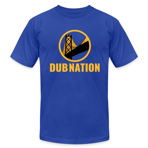 Dub Nation Bay Bridge - Men's  Jersey T-Shirt