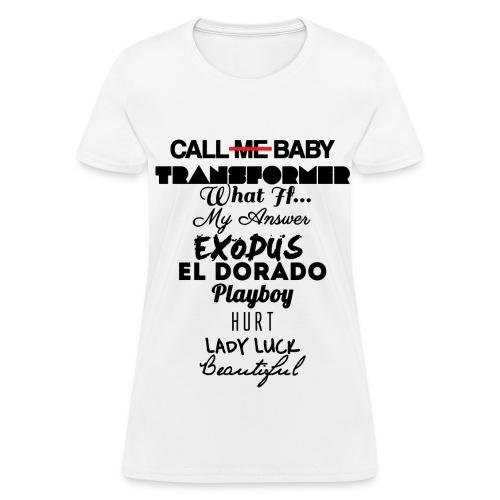 EXO: Exodus Tracklist Women's T-Shirts - Women's T-Shirt