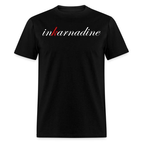 inkarnascript black tee - Men's T-Shirt