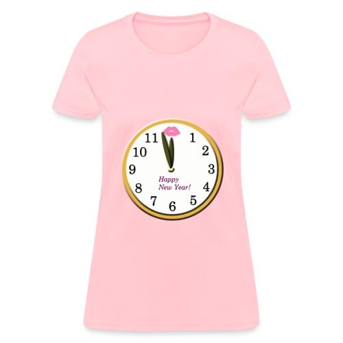 Happy New Year Clock - Women's T-Shirt