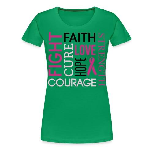 Cancer Awareness Womens T Shirt  - Women's Premium T-Shirt