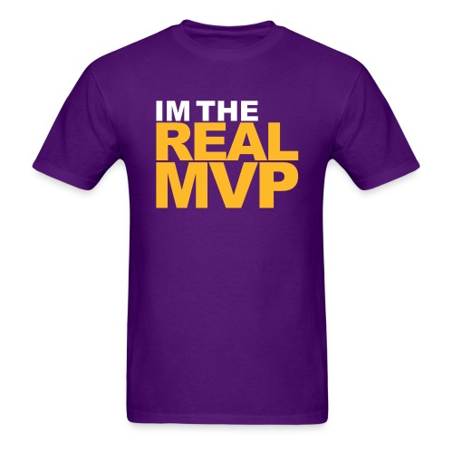 I'm The Real MVP - Purple - Men's T-Shirt