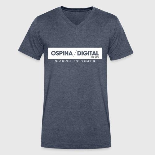 Ospina Digital Music - Official T-Shirt (V-neck/Navy) - Men's V-Neck T-Shirt by Canvas